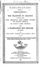 The Religious System of the Amazulu: With a Translation Into English, and Notes