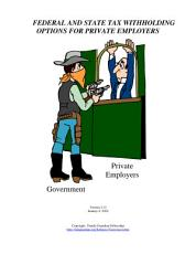 Federal and State Tax WIthholding Options for Private Employers, Form #09.001