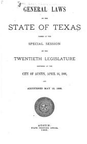 General Laws of the State of Texas