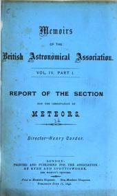 Memoirs of the British Astronomical Association: Volumes 4-6
