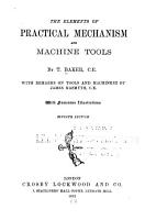 Elements of Practical Mechanism and Machine Tools PDF