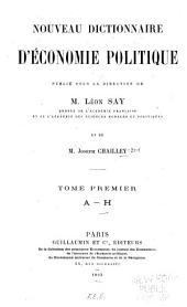 Nouveau dictionnaire d'économie politique: Volume1