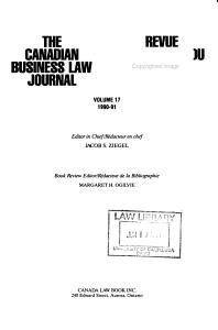 Revue Canadienne Du Droit de Commerce PDF