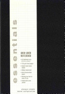 Essentials Large Black Grid Lined Notebook  A5 Size