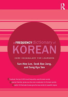 A Frequency Dictionary of Korean PDF