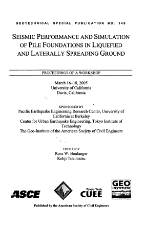 Seismic Performance and Simulation of Pile Foundations in Liquefied and Laterally Spreading Ground PDF