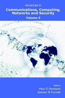Advances in Communications  Computing  Networks and Security Volume 9 PDF
