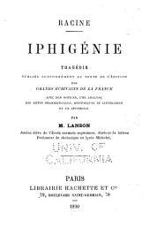 Iphigénie: tragédie en cinq actes et en vers