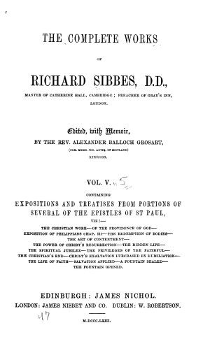 The Complete Works of Richard Sibbes  D D