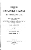 Elements of the Comparative Grammar of the Indo Germanic Language PDF