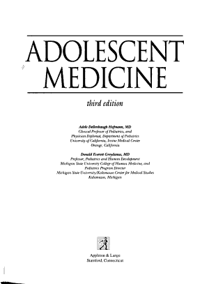 Adolescent Medicine PDF