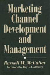 Marketing Channel Development and Management