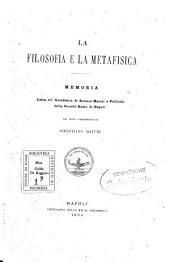 La filosofia e la metafisica