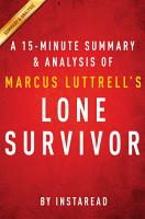 Lone Survivor by Marcus Luttrell   A 15 minute Summary   Analysis PDF