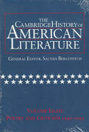 The Cambridge History of American Literature: Volume 8, Poetry and Criticism, 1940-1995