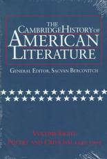 The Cambridge History of American Literature  Volume 8  Poetry and Criticism  1940 1995 PDF