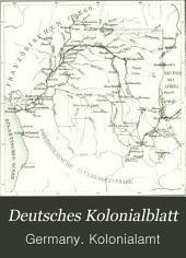 Deutsches Kolonialblatt: Amtsblatt des Reichskolonialamt, Band 4
