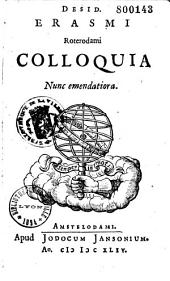Colloquia