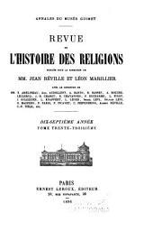 Revue de l'histoire des religions: Volume33