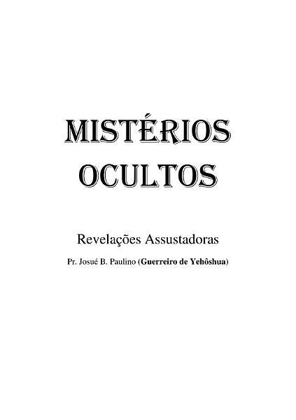 Mist  rios Ocultos PDF