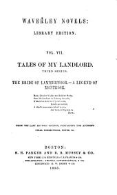 Tales of my landlord. Third series: The bride of Lammermoor. A legend of Montrose