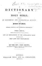 Dictionary of the Holy Bible