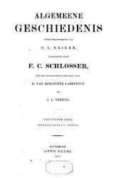 Algemeene geschiedenis: Volumes 15-16