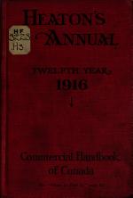 Heaton's Commercial Handbook of Canada ...