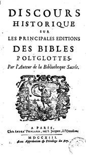 Discours historique sur les principales éditions des bibles polyglottes