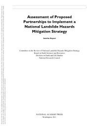 Assessment of Proposed Partnerships to Implement a National Landslide Hazards Mitigation Strategy