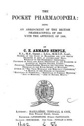 The Pocket Pharmacopoeia: Being an Abridgment of the British Pharmacopoeia of 1885 with the Appendix of 1890