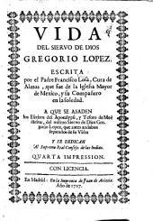 Vida del siervo de Dios Gregorio Lopez