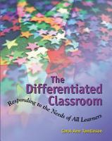 The Differentiated Classroom PDF