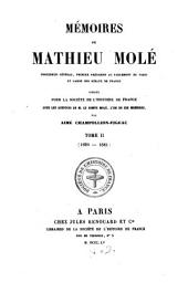 Mémoires: 1629 - 1641, Volume 2