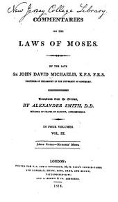 Commentaries on the Laws of Moses: Volume 3