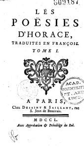 Les Poésies d'Horace, traduites en françois [par Ch. Batteux]