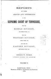 Reports of Cases Argued and Determined in the Supreme Court of Tennessee: Volume 90