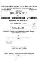 Bibliographie der deutschen Zeitschriften literatur PDF
