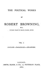 The Poetical Works of Robert Browning ...