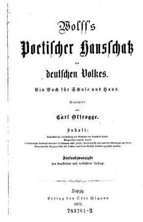 Poetischer Hausschatz des deutschen Volkes  Ein Buch f  r Schule und Haus  Erneuert von Carl Oltrogge  25  neu bearb  und verb  Aufl PDF