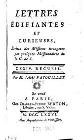 Lettres édifiantes et curieuses, écrites des missions étrangères par quelques missionaires de la Compagnie de Jésus: Volume32