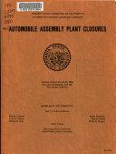 Automobile Assembly Plant Closures