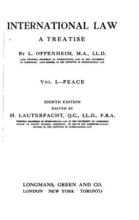 International Law  Peace PDF