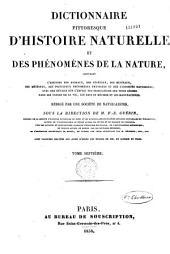 Dictionnaire Pittoresque D'histoire Naturelle: Des Phenomenes de la Nature