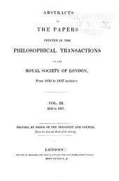 Abstracts of the Papers Printed in the Philosophical Transactions of the Royal Society of London: Volumes 3-4