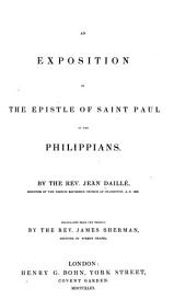 An Exposition of the Epistle of Saint Paul to the Philippians