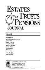 Estates  Trusts   Pensions Journal PDF