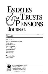 Estates Trusts Pensions Journal Book PDF