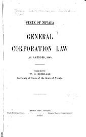 General Corporation Law: As Amended, 1905