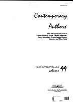 Contemporary Authors New Revision Series PDF